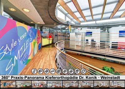 360° Praxis-Panorama der Kieferorthopädie Dr. Konik
