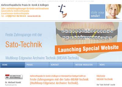 Dr. Konik und Kollegen stellen Special- Site zur Sato - MEAW - Technik vor