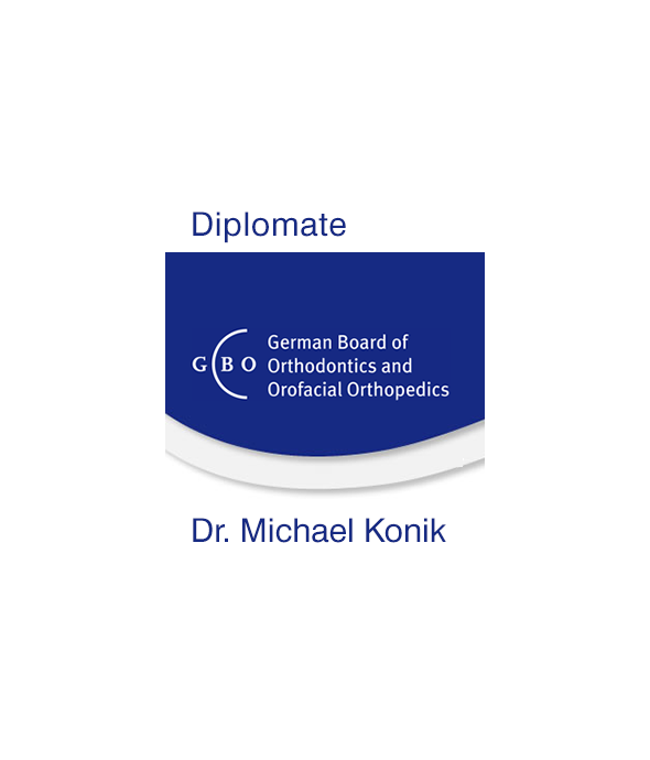 "Status ""Diplomate of the German Board of Orthodontics and Orofacial Orthopedics""."