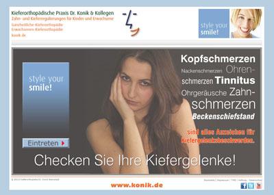 Kiefergelneksbeschwerden Praxis Dr. Konik & Kollegen