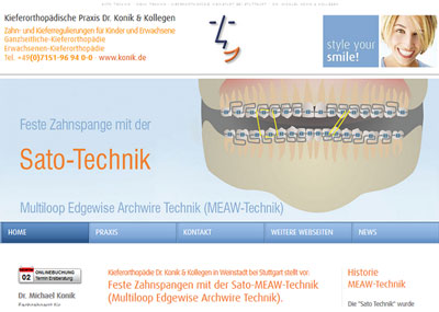 Feste Zahnspangen mit der Sato-MEAW-Technik